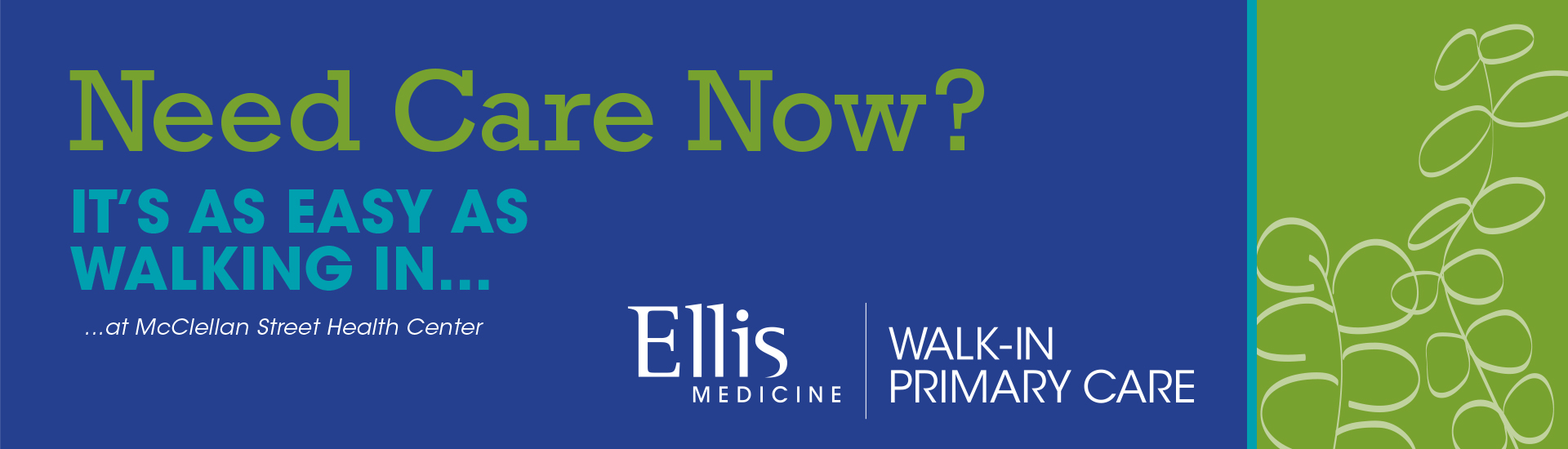 Walk-In Primary Care Now Open 7 days a week